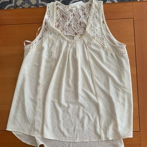 Cream tank top blouse